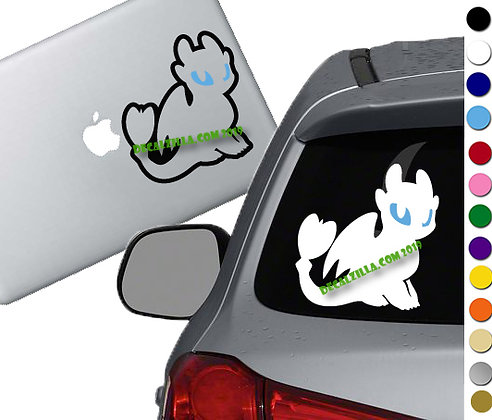 How to Train your Dragon- Light Fury Blue Eye - Vinyl Decal - For cars and more!