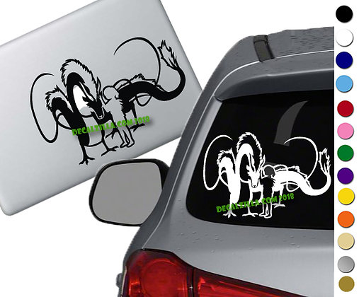 Spirited Away - Haku Dragon - Vinyl Decal Sticker - For cars, laptops, and more!