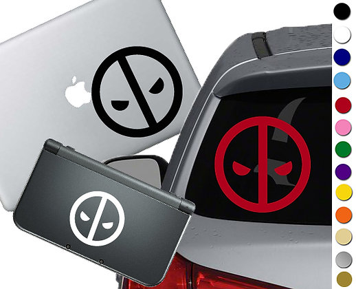 Deadpool Symbol - Vinyl Decal Sticker For cars, laptops, and more