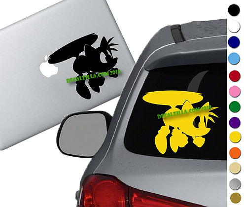 Sonic - Tails Flying - Vinyl Decal Sticker - For cars, laptops, and more!