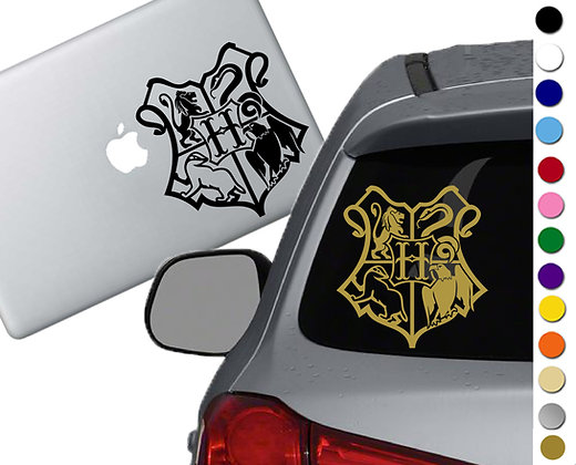 Harry Potter- Hogwarts Crest- Vinyl Decal Sticker - For car, laptops and more!