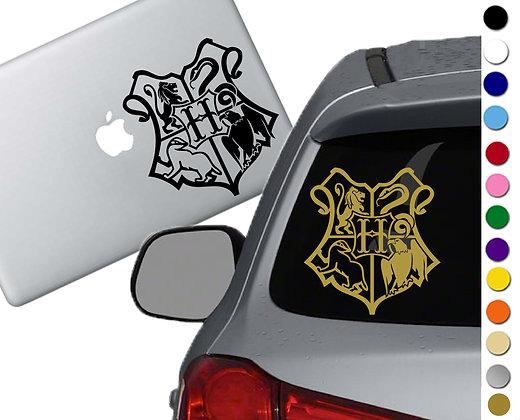 Harry Potter- Hogwarts Crest- Vinyl Decal Sticker - For car, laptops and more!