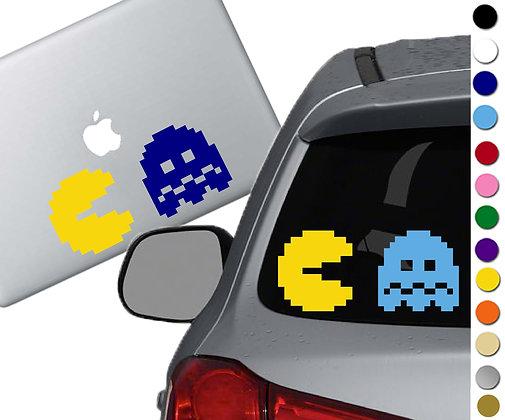 Pac Man 8 Bit - Vinyl Decal Sticker - For cars, laptops, more!