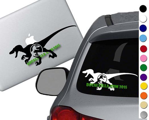 Jurassic Park- Velociraptor - Vinyl Decal Sticker - For cars, laptops and more!