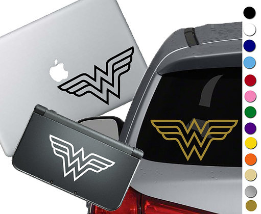Wonder Woman Symbol - Vinyl Decal Sticker For cars, laptops, and more!