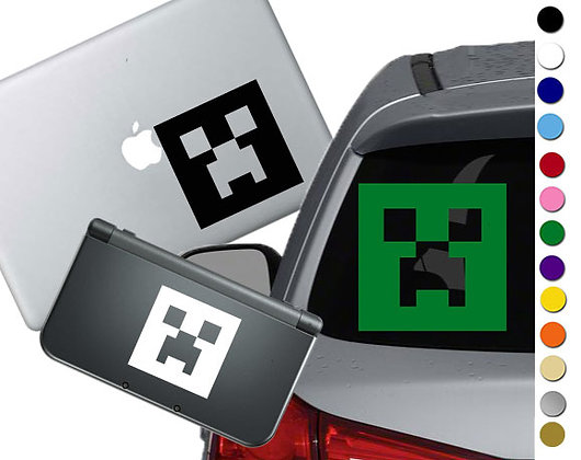 Minecraft Creeper- Vinyl Decal Sticker For cars, laptops, and more!