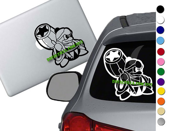 Kirby - King Dedede - Vinyl Decal Sticker - For cars, laptops and more!