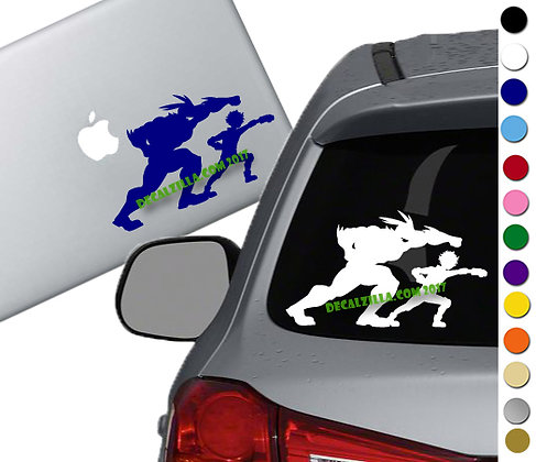 My Hero Academia - All Might and Izuku - Vinyl Decal Sticker - For cars and more