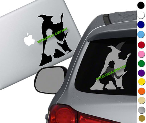 Lord of the Rings - Gandalf and Hobbit- Vinyl Decal Sticker - For cars and more!