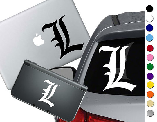 Death Note- L - Vinyl Decal Sticker For cars, laptops, and more!