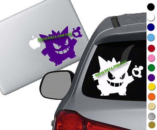Pokemon - Gengar - Vinyl Decal Sticker - For cars, laptops, and more!
