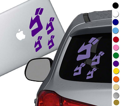 Jojo's Bizarre Adventure - Menacing - Vinyl Decal Sticker - For cars and more!