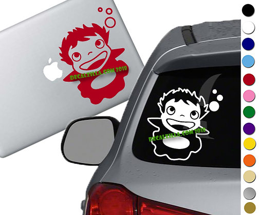 Ponyo - Vinyl Decal Sticker - For cars, laptops, and more!