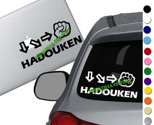 Street Fighter - Hadouken - Vinyl Decal Sticker - For cars, laptops, and more!
