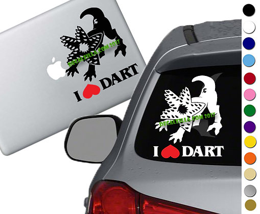 Stranger Things I love Dart - Vinyl Decal Sticker - For cars, laptops and more!