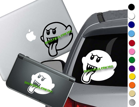 Mario Boo - Vinyl Decal Sticker For cars, laptops, and more!