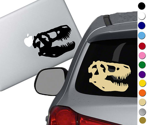 T-Rex Skull - Vinyl Decal Sticker - For cars, laptops, and more!
