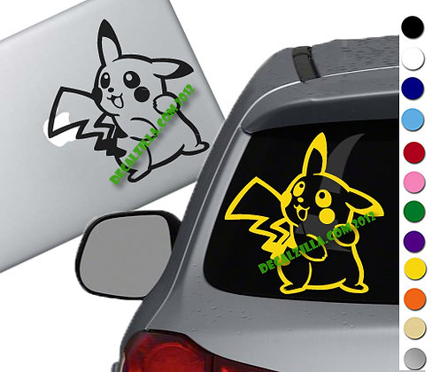 Pokemon- Pikachu - Vinyl Decal Sticker - For cars, laptops and more!