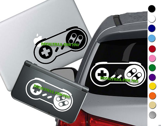 Super Nintendo Controller- Vinyl Decal Sticker For cars, laptops, and more!