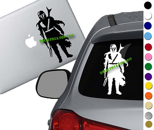 The Mandalorian - Mando - Vinyl Decal Sticker - For cars, laptops and more!