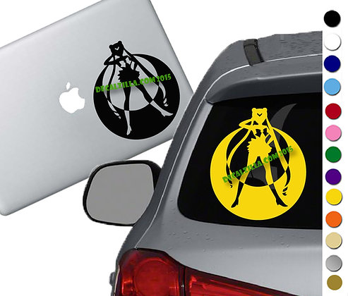 Sailor Moon Silhouette - Vinyl Decal Sticker - For cars, laptops, and more!
