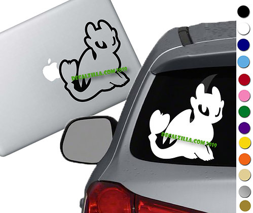 How to Train your Dragon- Light Fury - Vinyl Decal - For cars and more!