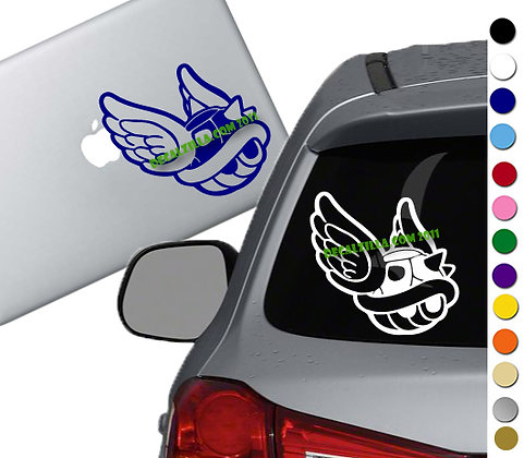 Mario - Blue Shell - Vinyl Decal Sticker - For cars, laptops and more!