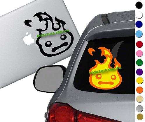 Howls Moving Castle- Calcifer - Vinyl Decal Sticker - For cars, laptop and more!