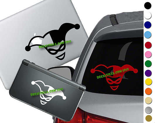 Harley Quinn Face - Vinyl Decal Sticker For cars, laptops, and more!