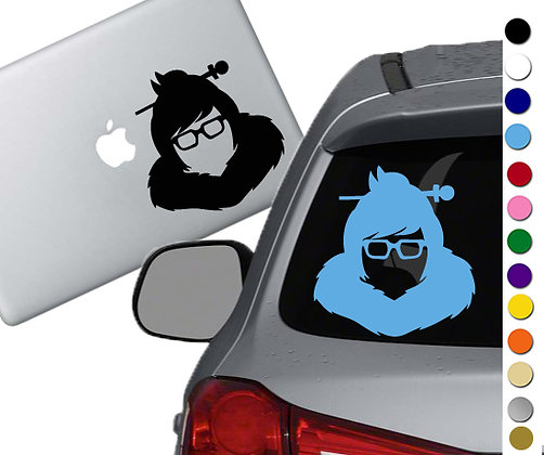 Overwatch - Mei - Vinyl Decal Sticker - For cars, laptops and more!