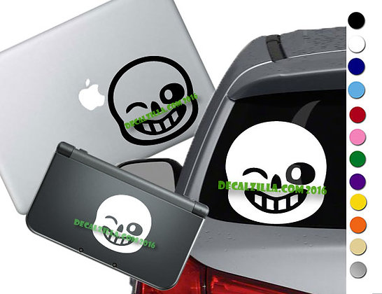 Undertale Sans- Vinyl Decal Sticker For cars, laptops, and more!
