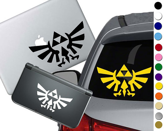 Legend of Zelda Triforce- Vinyl Decal Sticker For cars, laptops, and more!