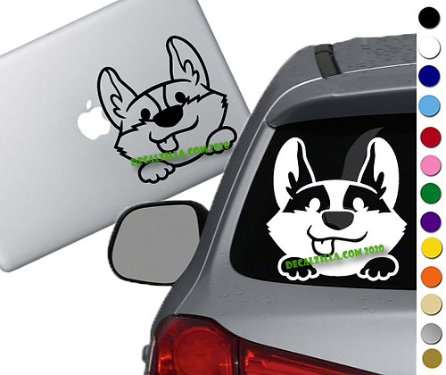 Dog - Corgi Peeker - Vinyl Decal Sticker - For cars, laptops and more!