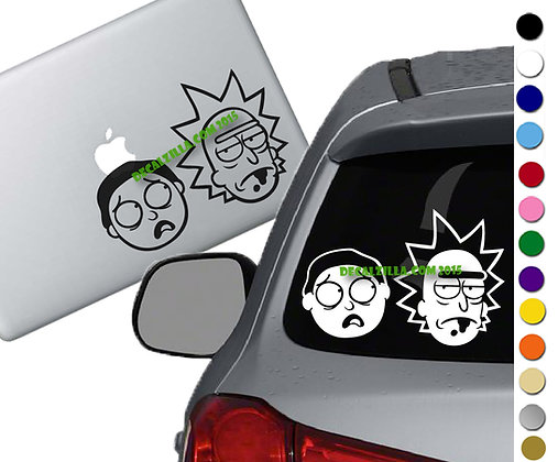 Rick and Morty - Vinyl Decal Sticker - For cars, laptops and more!