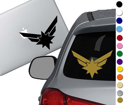 Captain Marvel Symbol - Vinyl Decal Sticker - For cars, laptops, and more!