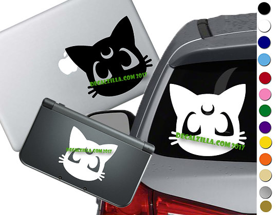 Sailor Moon - Luna - Vinyl Decal Sticker For cars, laptops, and more!