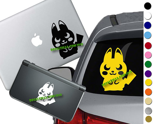 Pokemon - Pikachu Silhouette - Vinyl Decal For cars, laptops, and more!