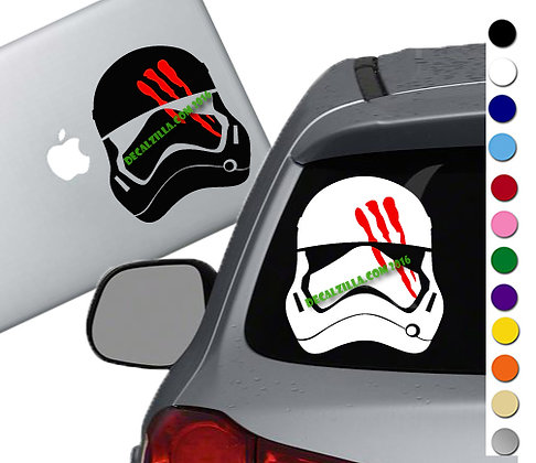 Star Wars - Storm Trooper Helmet - Vinyl Decal Sticker - For cars and more!