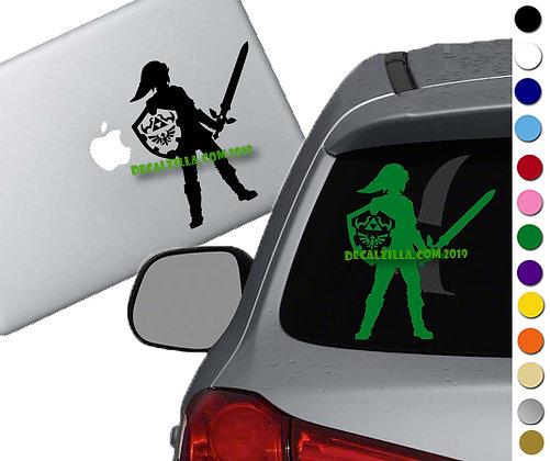 Legend of Zelda - Adult Link - Vinyl Decal Sticker - For cars, laptops and more!