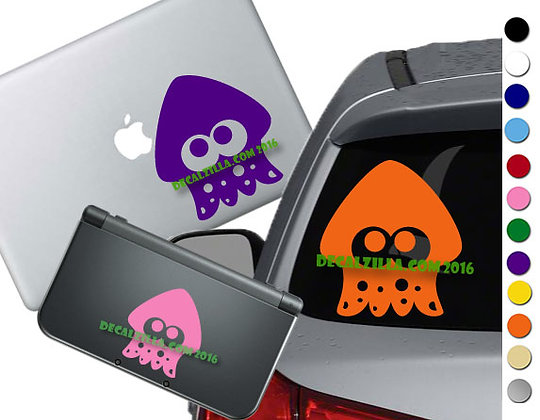 Splatoon Squid- Vinyl Decal Sticker For cars, laptops, and more!