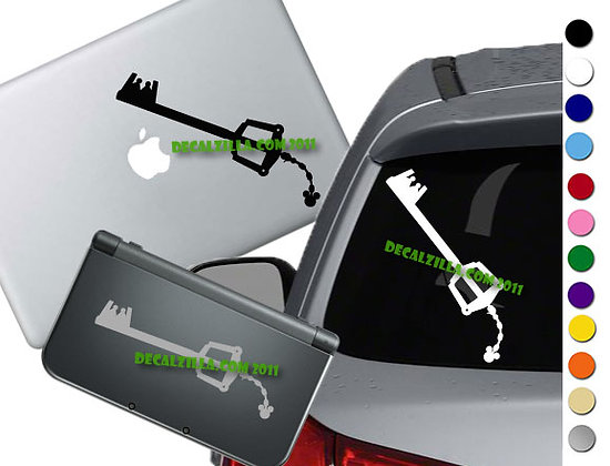 Kingdom Hearts Keyblade - Vinyl Decal Sticker For cars, laptops, and more!