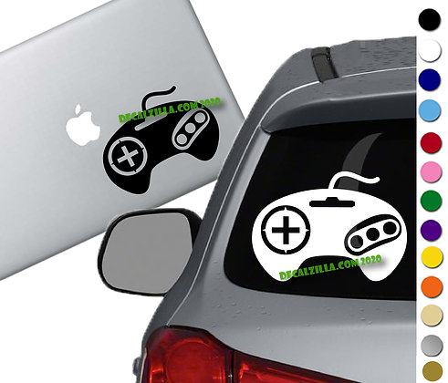 Sega Controller - Vinyl Decal Sticker - For cars, laptops, and more!