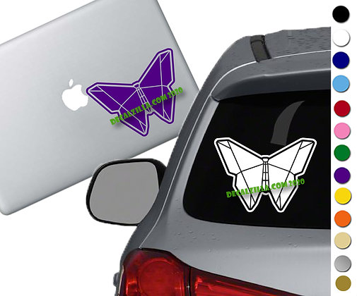 Origami Butterfly - Vinyl Decal Sticker - For cars, laptops, and more!