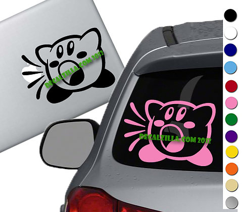 Kirby Inhale - Vinyl Decal Sticker - For cars, laptops, and more!