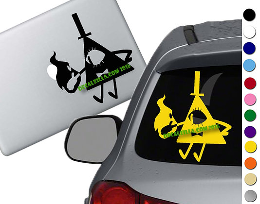 Gravity Falls Bill Cipher Deal - Vinyl Decal Sticker - For cars, laptops, more!