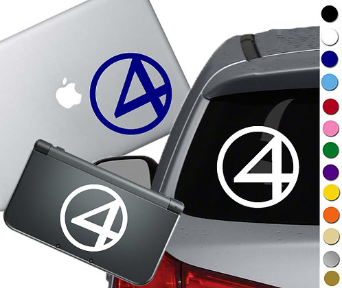 """Sale! 1.5"""" Fantastic 4  -Mini Vinyl Decal Sticker For laptops and more!"""