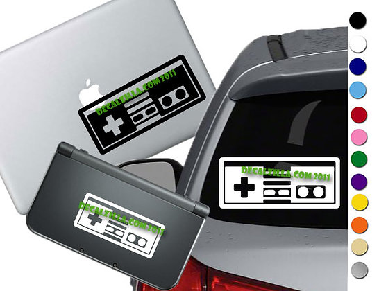 NES Controller - Vinyl Decal Sticker For cars, laptops, and more!