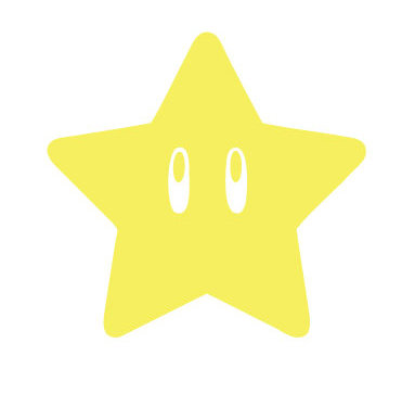 "Sale! 1.5"" Mario Star -Mini Vinyl Decal Sticker For laptops and more!"