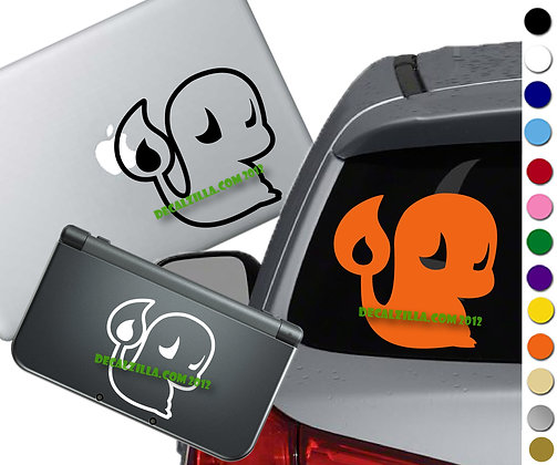 Pokemon - Charmander - Vinyl Decal Sticker For cars, laptops, and more!