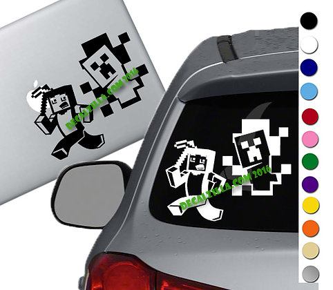 Minecraft - Steve and Creeper- Vinyl Decal Sticker - For cars, laptops, and more